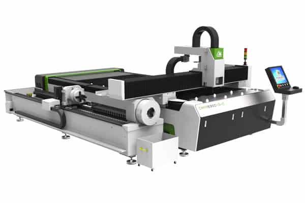 Cortadora laser para corte de placas de metal y tubos.