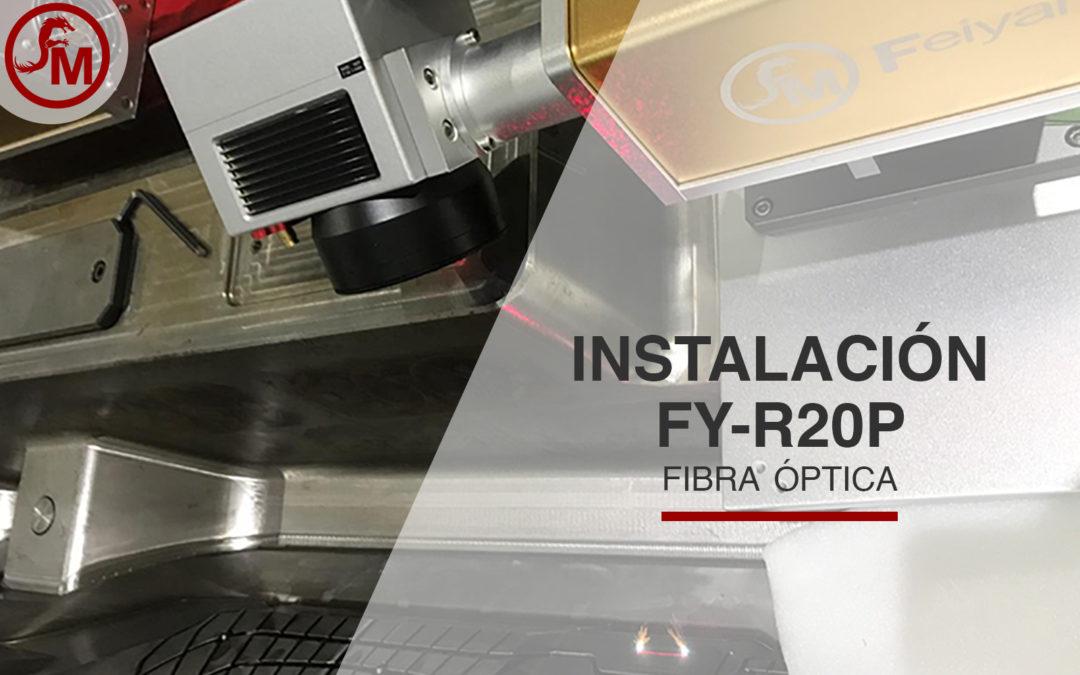 Instalación de Marcadora de Fibra óptica FY-R20P