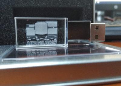 Grabado láser en USB