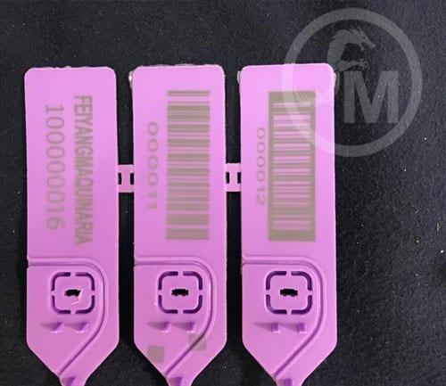 grabado laser en sellos de seguridad