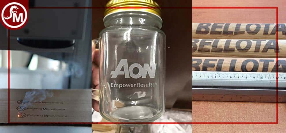 grabrado laser de  madera, carton, cer´´amica, piedra, resina, goma, vidrio, tela, esponja, mezclilla, goami