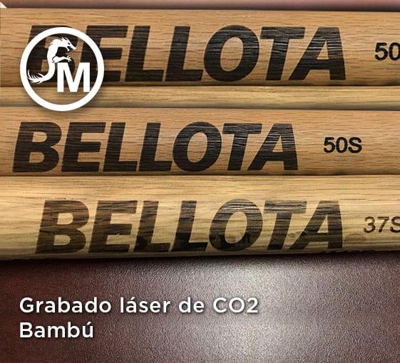 grabado laser en bambú