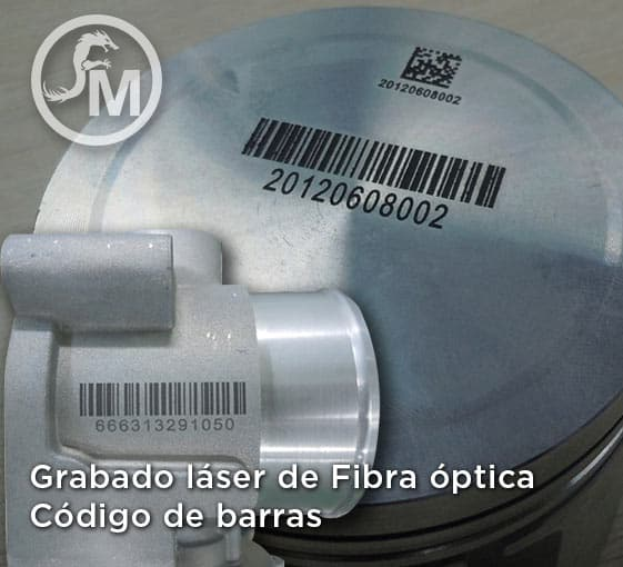 grabado laser de fibra optica codigo de barras