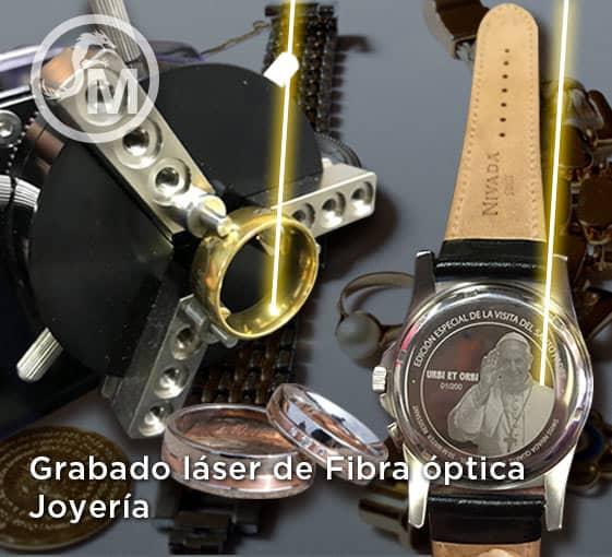 grabado laser de fibra optica en joyeria