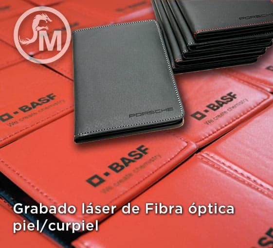 grabado laser de fibra optica en piel o curpiel