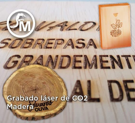 grabado laser sobre madera