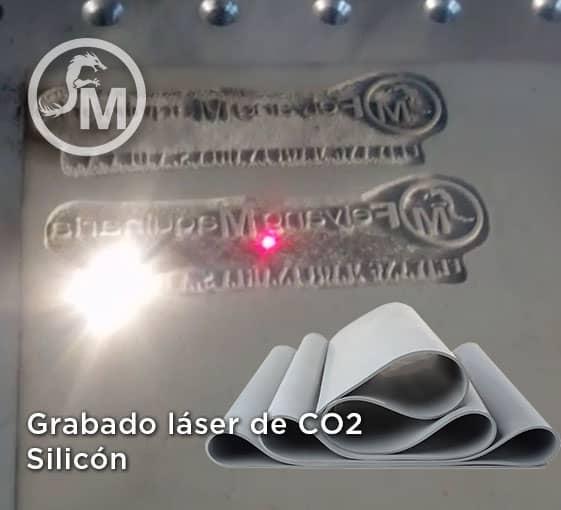 grabado laser en silicon