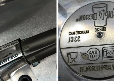 grabado láser en industria metalmecánica